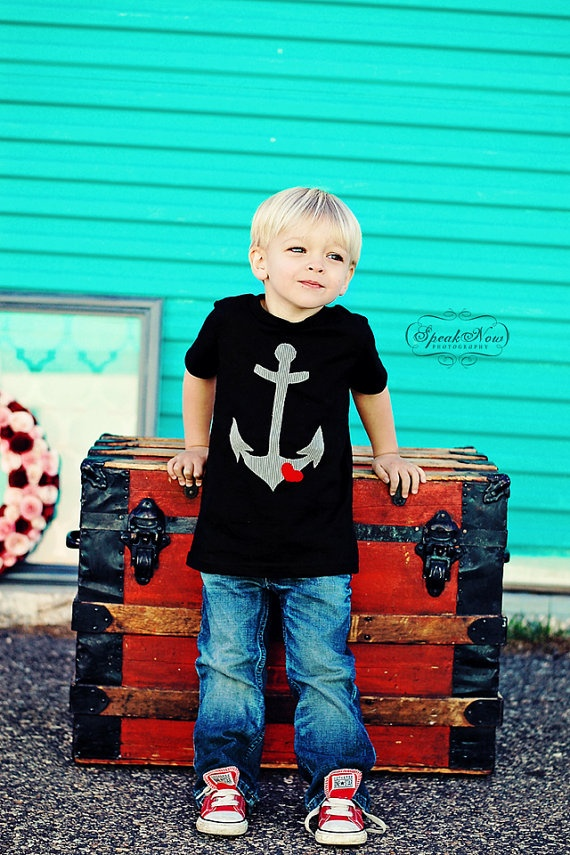 The Boys Anchor Tee by byohfiddlesticks on Etsy: Valentine Shirts For Boys, Valentine'S Tees, Boys Darling, Boys Blue, Valentine'S S, Boys Anchors, Anchors Tees, Boys Shirts, Valentine Tees