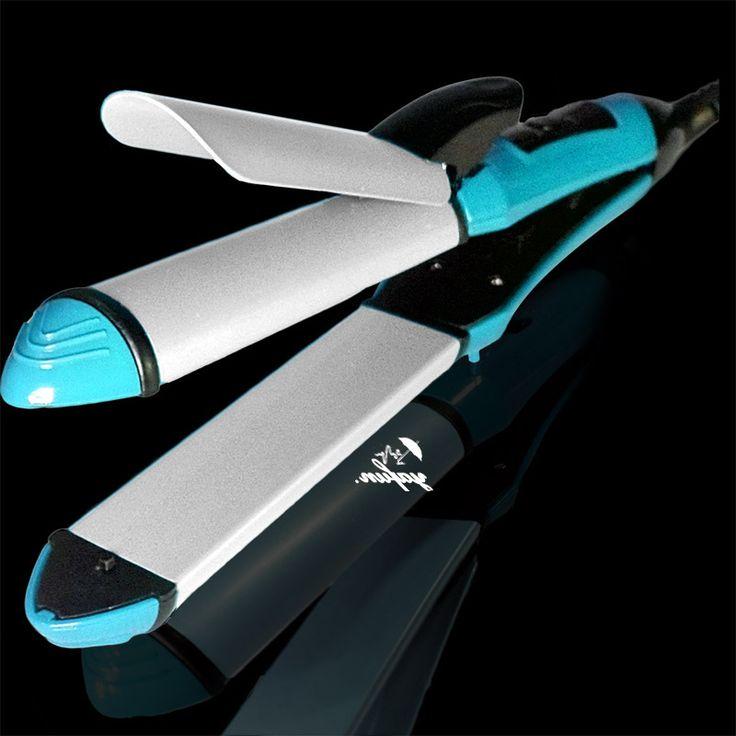Yafun 110 V - 240 V utensilios enderezado plancha curling hierro ( enderezadora del bigudí 2 en 1) estilos de pelo rodillos belleza planchas de pelo