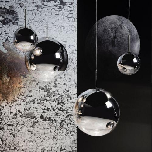 D20cm-Chrom-Glas-Spiegelkugel-Haengeleuchte-Deckenleuchte-Pendelleuchte-Design