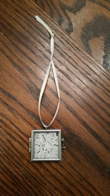 For my daughter's wedding gift i gave her a piece of my wedding gown.  Piece of…