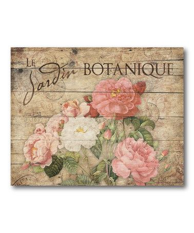 cake board?  Decoupaged and on a candle holder perhaps??  Look at this #zulilyfind! Vintage Roses Wrapped Canvas #zulilyfinds