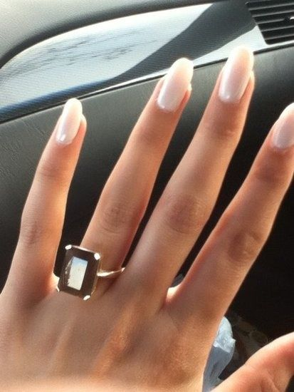 Oval Nails. I find these MUCH more attractive and classy than square nails