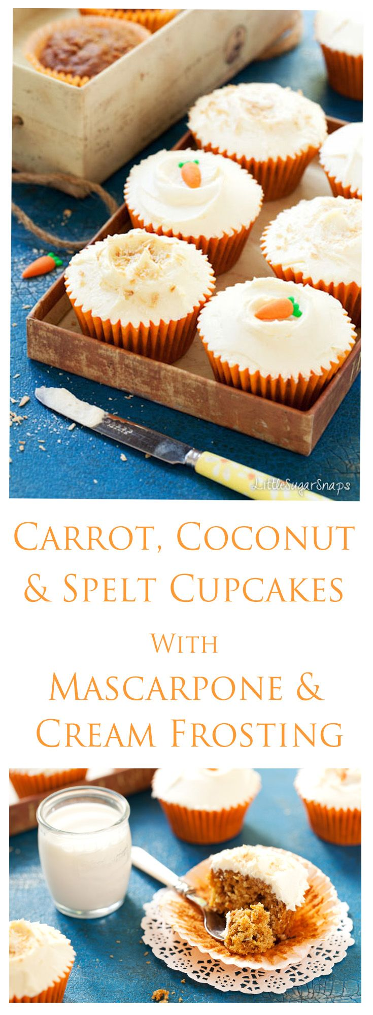 Carrot, Coconut & Spelt Cupcakes | Recipe | Carrots, Coconut and ...
