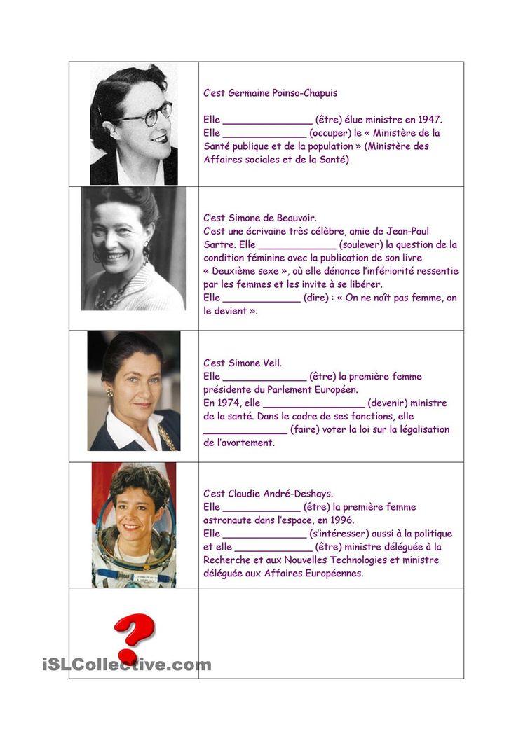 La Journée des Femmes et le passé composé