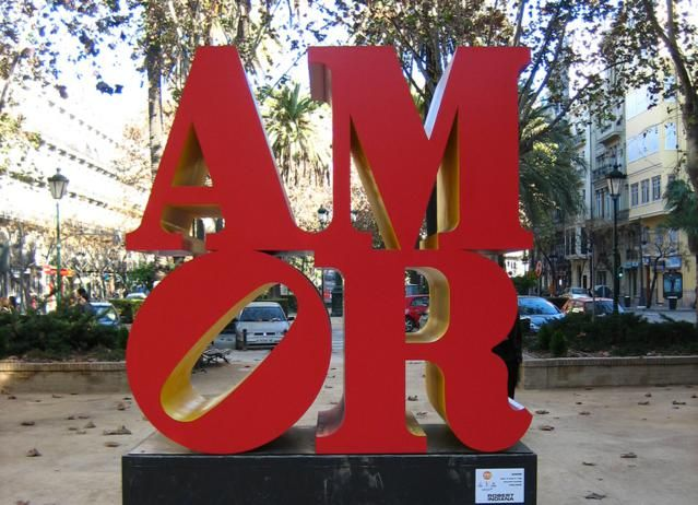 43 Words You Can Use To Talk About Love in Spanish: Sculpture by Robert Indiana in Valencia, Spain