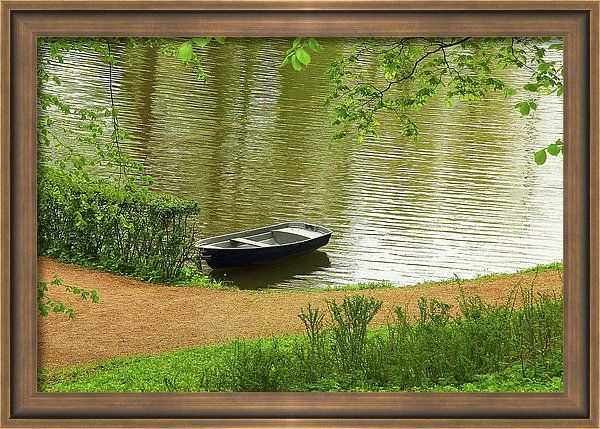 Mary Raven Framed Print featuring the photograph Silent Creek by Mary Raven   #water #summer #nature #landscape #travel #lake #boat #view #beautiful #beauty #river #outdoors #wave #vacation #tourism #graphicdesign #ArtForHome #FainArtPrints #Photographers #FineArtAmerica #FineArtPrints #ForSale #ArtHome #Artdecor #Decor #Homedecor