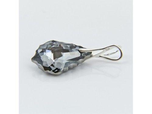 ZAWIESZKA SWAROVSKI 16MM SILVER NIGHT SREBRO 925 - W1245 Materiał: Srebro 925 + kryształ Swarovski Elements Kolor: Silver Night Rozmiar kamienia: 16mm Wysokość całej zawieszki: 29,0mm Waga srebra: 0,44g ( 1szt ) Waga całej zawieszki: 1.25g ( 1szt)