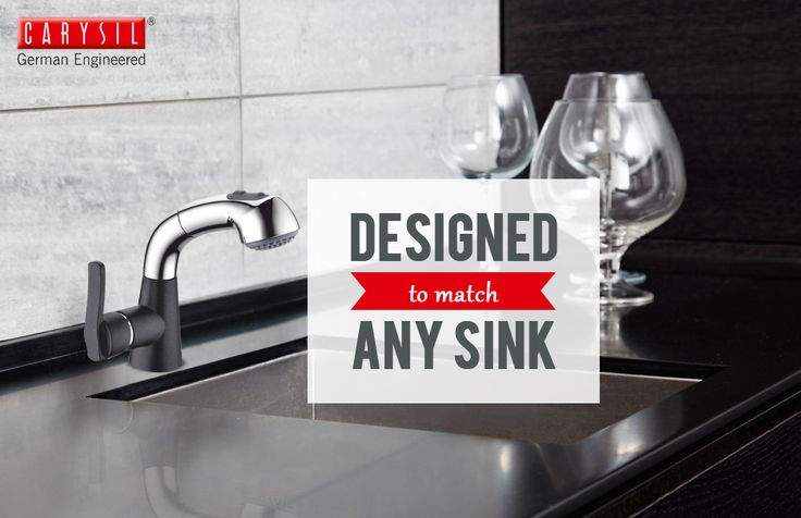 Enhance the functionality of your kitchen sinks with Carysil Faucets. #CarysilKitchen