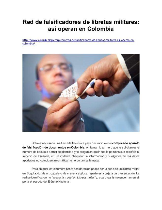 Red de falsificadores de libretas militares: así operan en Colombia