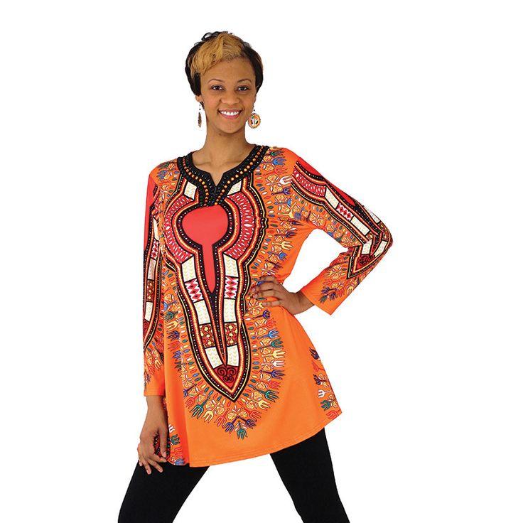 Plus Size Traditional Jeweled African Dashiki