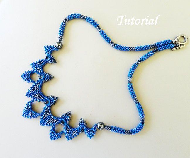 PDF for Sydney Necklace Beading Tutorial - beaded seed bead jewelry - beadweaving beading pattern