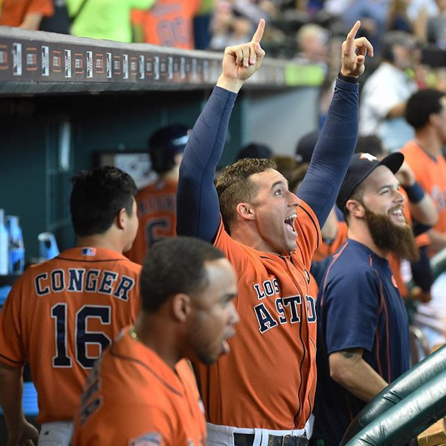 Hey George Springer your thoughts on today's #Astros win over the Rangers?  https://instagram.com/p/8G5PQviLem/