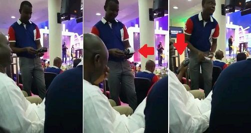 ArmanikEdu: Photos:Church members paying tithes with POS insid...