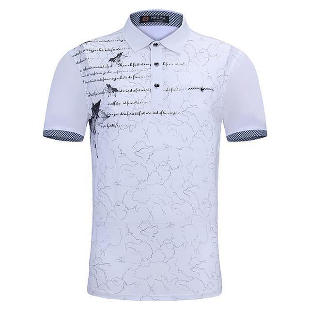 Home Slim Fit Clothing Polo Shirts Letter Print Polo Short Sleeve Polo Tee Shirt