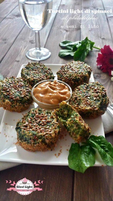 Tortini light di spinaci al philadelphia e semi di lino (76 calorie l'uno) | Le ricette super light di Giovi