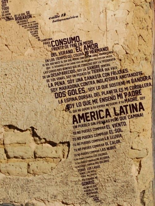 """This is my favorite song these days: """"Latinoamérica"""" by Calle 13"""
