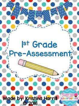 Here is a pre-assessment I use for the incoming 1st Grade students. It is condensed to one page for easy use! It shows you where all your students are for planning purposes. It covers: -Blending (CVC Words, Long Vowels) -Simple Sentence Fluency -Number