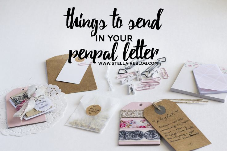 things to send to your penpal | Stellaire
