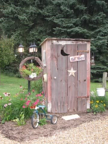 Pin by angie adair on outhouses pinterest for Garden shed jokes