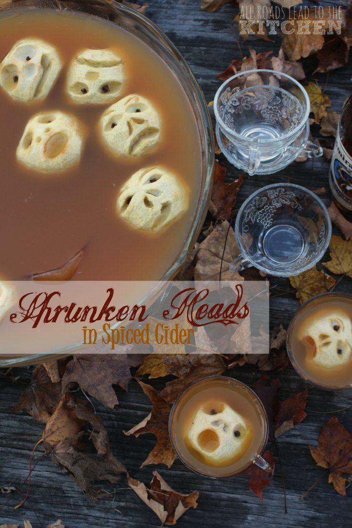 shrunken heads in spiced cider - Halloween Casserole Recipe Ideas
