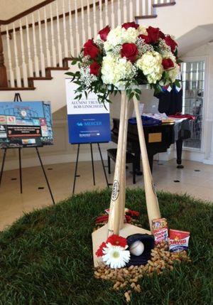 19 best baseball wedding ideas images on pinterest sports wedding baseball themed wedding centerpiece junglespirit Images