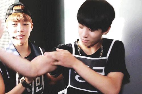 Bangtan Boys ❤ Jungkook (kook) |  showing off his muscles | tumblr