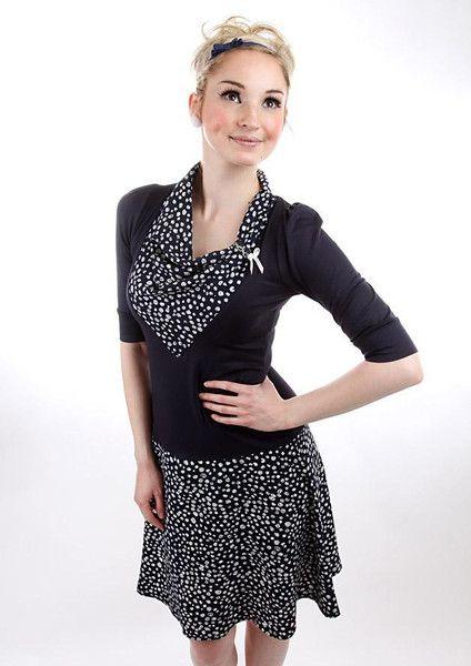 """Knielange Kleider - MEKO """"Joslyn"""" Kleid Blau Damen maritim - ein Designerstück von meko bei DaWanda"""