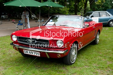 Classic Ford Mustang Royalty Free Stock Photo