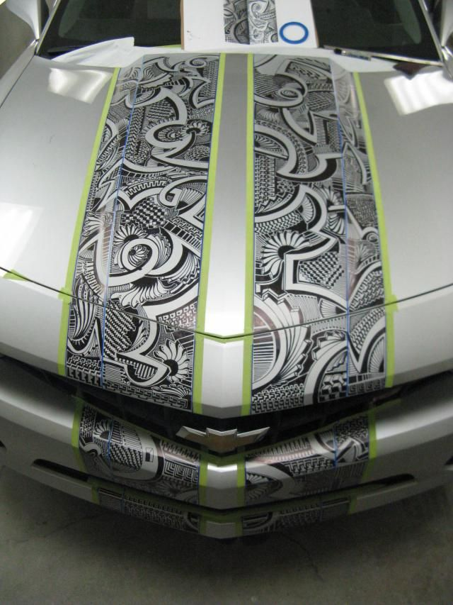 Pinstriper Uncaps Sharpie Marker for 5th Gen Camaro Project - LSXTV