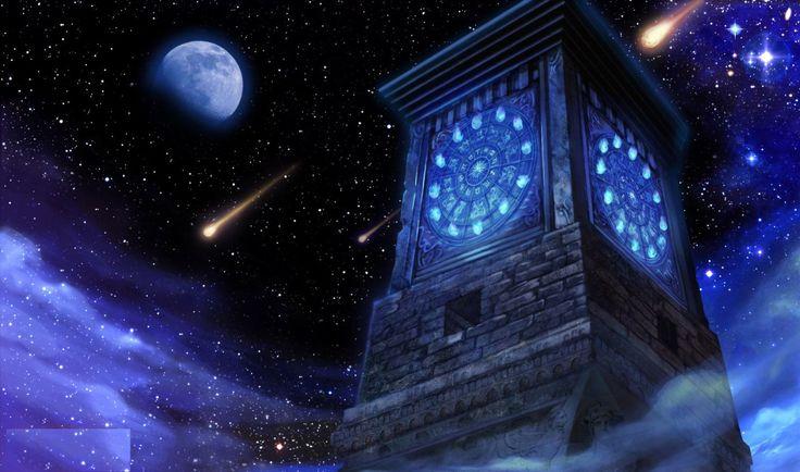 La torre del reloj de fuego de el santuario.