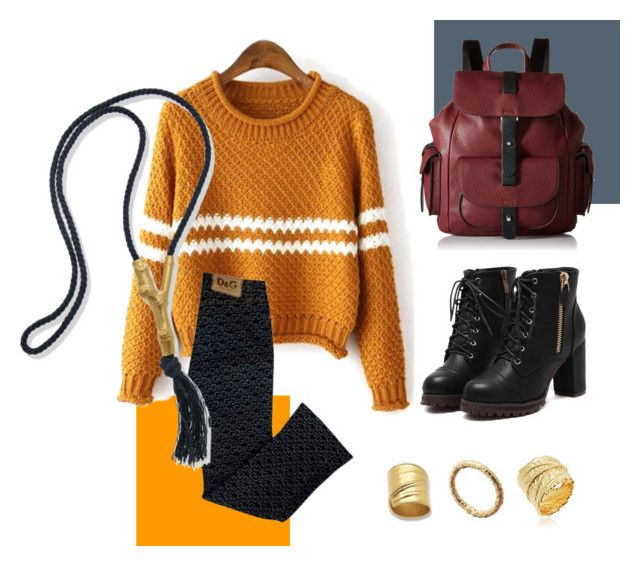 Winter look by thallo by thallo on Polyvore featuring Dolce&Gabbana and Kenneth Cole Reaction
