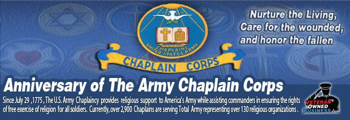 """Today marks the 240th Anniversary of the U.S. Army Chaplain Corps (est. July 29, 1775). Read about the history of the Army Chaplain Corps and how Army Chaplains have served over great nation over the years. """"Pro Deo et Patria,"""" which means, """"For God and Country."""""""