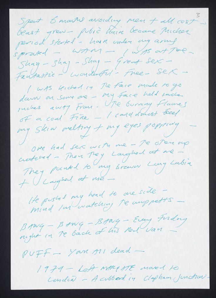 'Tracey Emin C.V.', Tracey Emin, 1995 | Tate