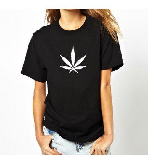 Black & White Marijuana Leaf Women T-Shirt.  Price: $15.49 & FREE Shipping Worldwide   // #BobMarley #OneLove #Rasta #Jamaica #Rastafari #Reggae #Music #Weed #Cannabis #Marijuana #Ganja #Pot #MaryJane #THC #MMJ #RastaMan #Legend