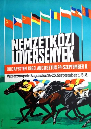 International horse races in Budapest (Pál György, 1963.)