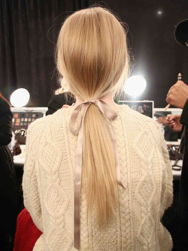 Jenny Packham F/W '13 hair: http://beautyeditor.ca/2013/02/20/new-york-fw-13-pretty-ponytails-beautiful-braids-and-awesome-updos-for-new-hair-inspiration/