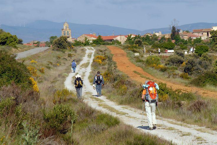 Llegando a Santa Catalina de Somoza, León, Camino de Santiago