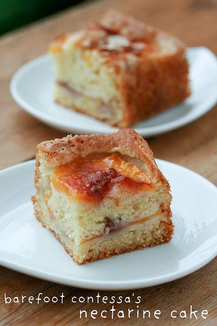 Barefoot Contessa  39 s Fresh Nectarine Cake