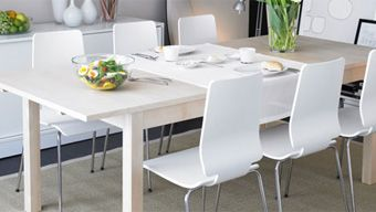 Table à manger bjursta beige IKEA