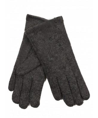 Rewelacyjne, mięciutkie rękawiczki idealne na każdy zimny dzień. Zdobione drobniutkimi koralikami.