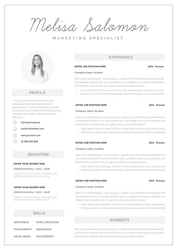 Pin On Resume The Job Search