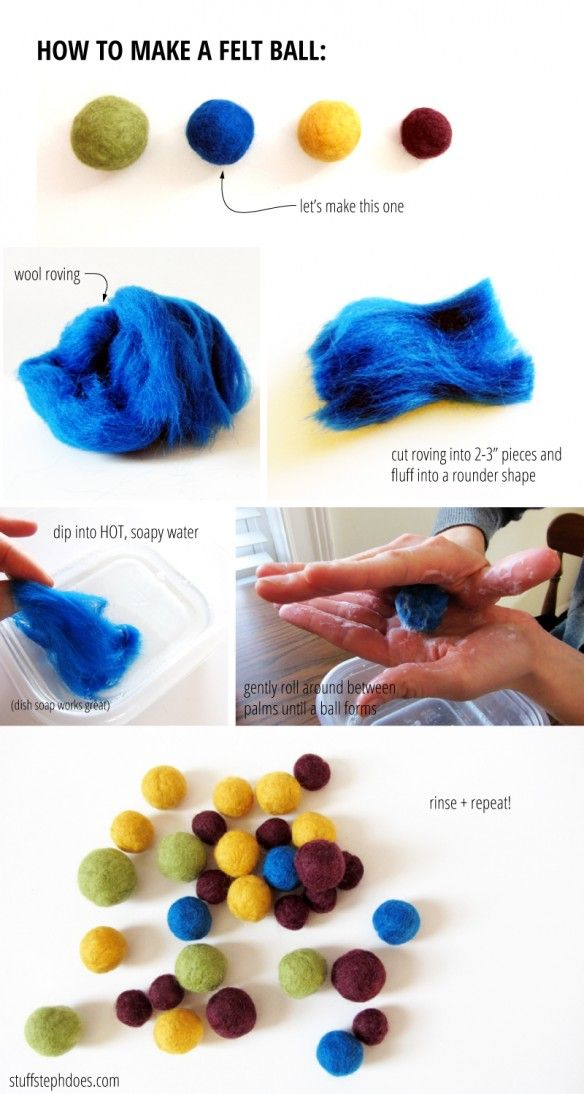 how to make felted balls :: stuff steph does