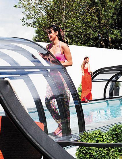 Découvrez les abris de piscine elliptik #abripiscinerideau #elliptikmh