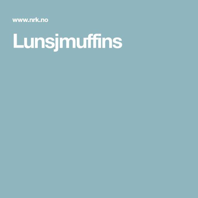 Lunsjmuffins