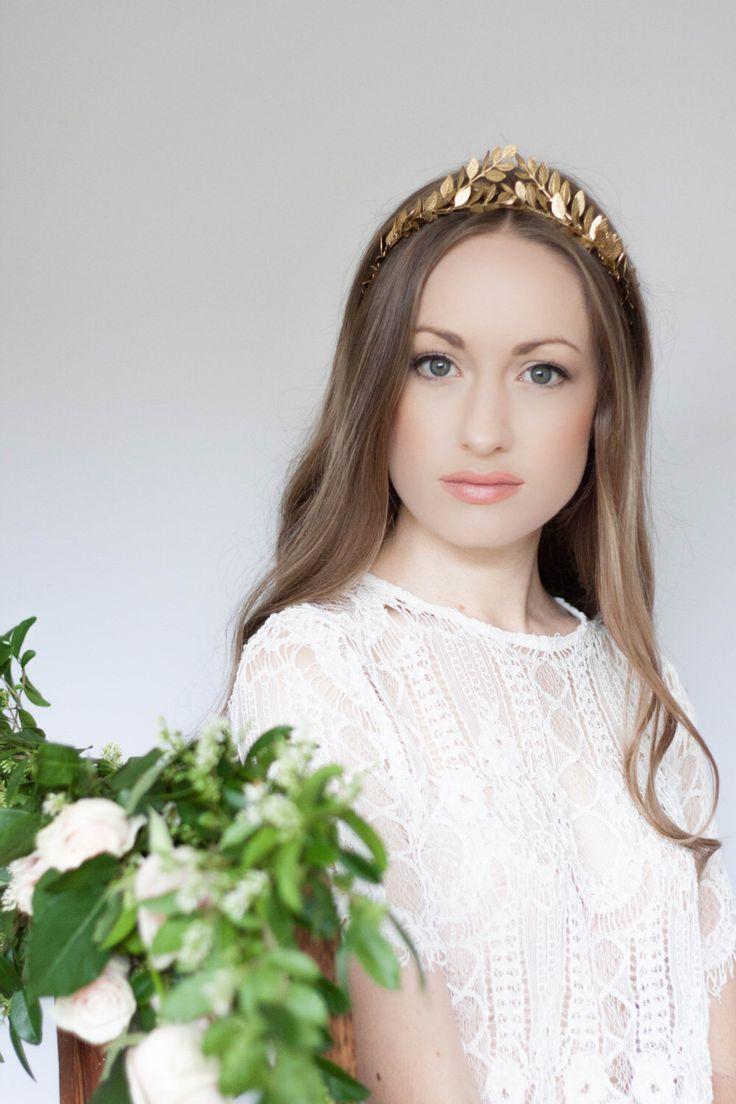 Greek Goddess Laurel Leaf Crown, Gold Tiara, Halo, Gold Leaf Headpiece, Hair Accessory, bridal tiara, Leaf Headband, Woodland, bohemian #100 by AnnaMarguerite on Etsy https://www.etsy.com/listing/179011997/greek-goddess-laurel-leaf-crown-gold