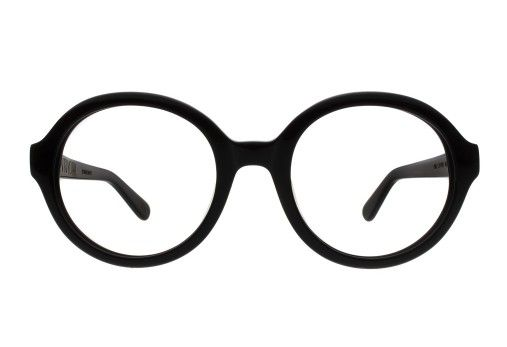 19a43ccc7ce Designer round eyeglasses frames in black by Vint   York.