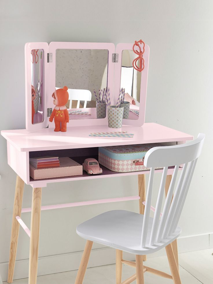 1000 id es sur le th me coiffeuse enfant sur pinterest for Table de bureau blanche