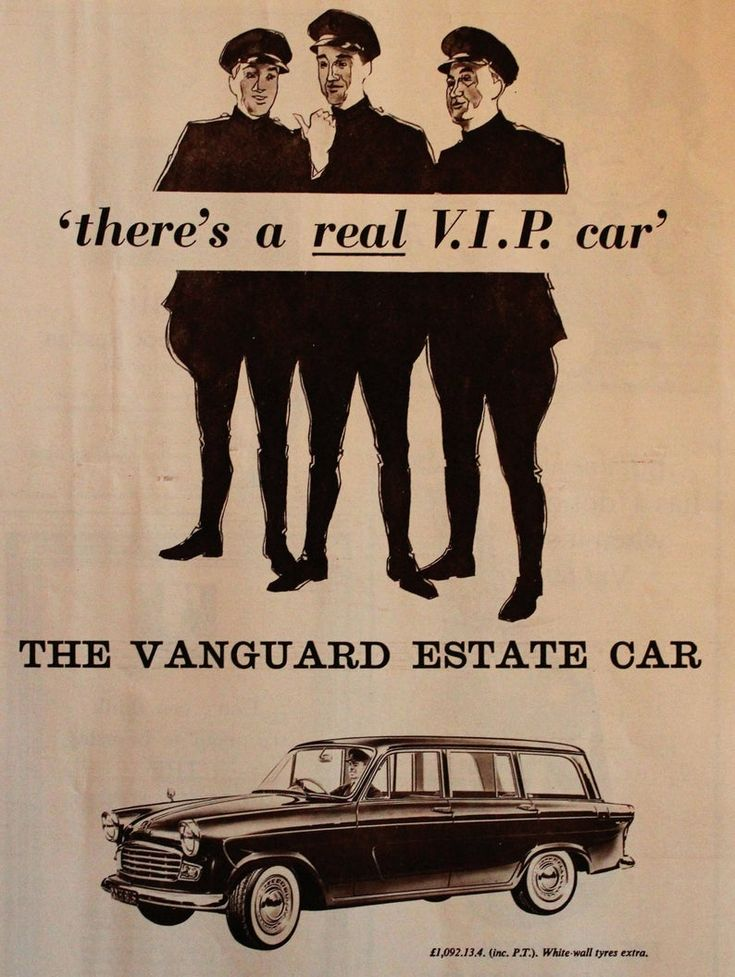1960 British Vanguard Estate Car Ad Wall Art Decor