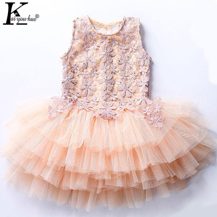 $9.91 (Buy here: https://alitems.com/g/1e8d114494ebda23ff8b16525dc3e8/?i=5&ulp=https%3A%2F%2Fwww.aliexpress.com%2Fitem%2FHOT-flower-girls-prom-dresses-summer-2016-sleeveless-lace-princess-children-tutu-dress-baby-girl-clothes%2F32645722968.html ) Flowers Girls Dress Summer 2017 Lace Princess Dresses For Girls Children Clothing Tutu Dress Baby Girl Clothes Costumes For Kids for just $9.91
