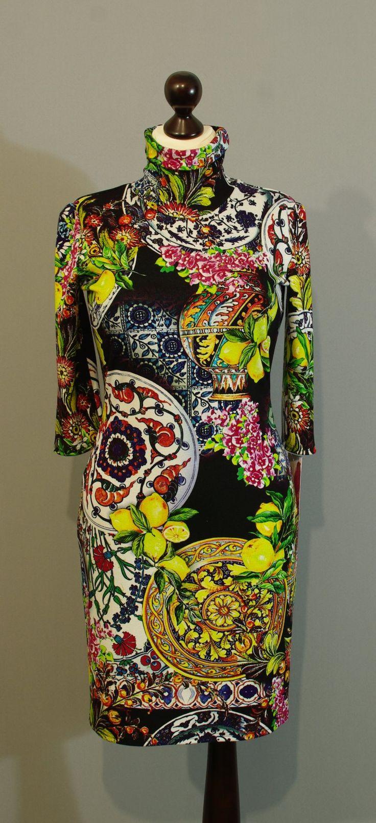 Черно-лимонное платье купить интернет-магазин Украина (22)